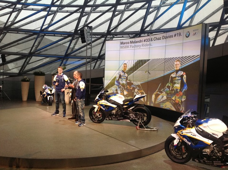 Let's get it started! The BMW Motorrad GoldBet SBK Team has been launched today in the BMW Welt. Watch out for the 2013 S 1000 RR and the works riders Marco Melandri and Chaz Davies. What do you think about the new bike design?