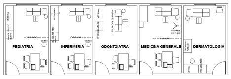 Consultori medici dwg ambulatori dwg studio medico for Arredi sketchup