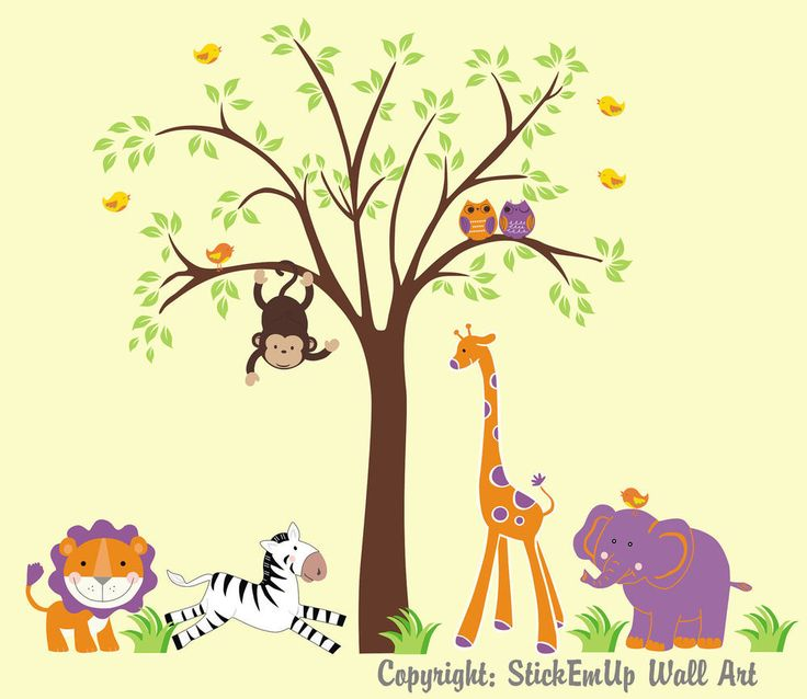 81 best Girls Themed Nursery Animal Wall Decals images on Pinterest ...