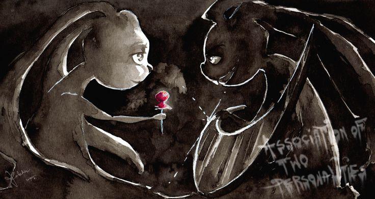 Two bunnies by Kashoka --- Ink