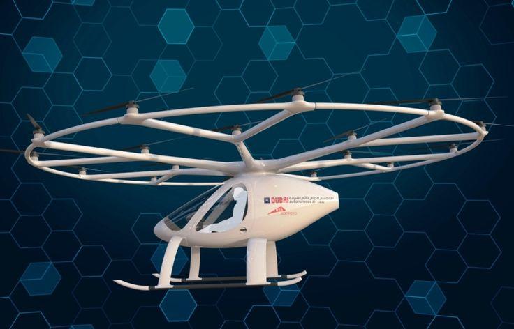 El volcopter llega a Dubai para comenzar las primeras pruebas