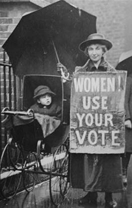 Enactment of the 19th Amendment in 1920 extending the right to vote to women, was without question the most significant political development in the 20th Century.   For better or worse, try and imagine who would be running our country today if only men were permitted to vote.