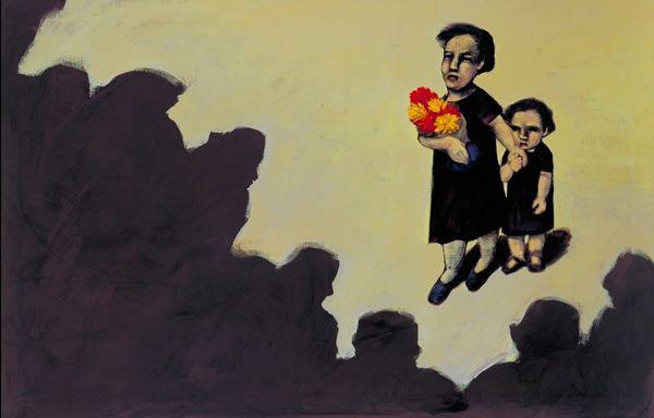 """La importancía de esta pintura es que es una pintura sobre el cuento """"La siesta del martes"""". El cuento fue inspirado por un viaje que Gabriel García Marquez tuvo a Aracata en donde cuando llego vio a una mujer con flores con su hija y que todos la critcaban por ser la madre de el ladron."""