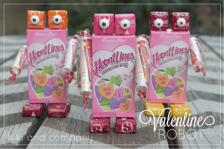 Cute Valentine Robot. Easy for kids to help out.