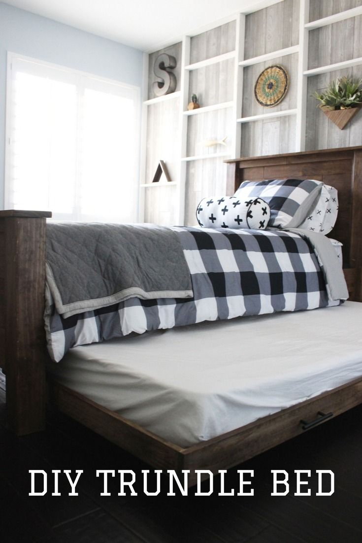 Kids love slumber parties. Keep sleepovers simple with a DIY trundle bed that's easy to make up and tuck away. Check out this easy project and the full boy's bedroom makeover in the latest episode of The Weekender.