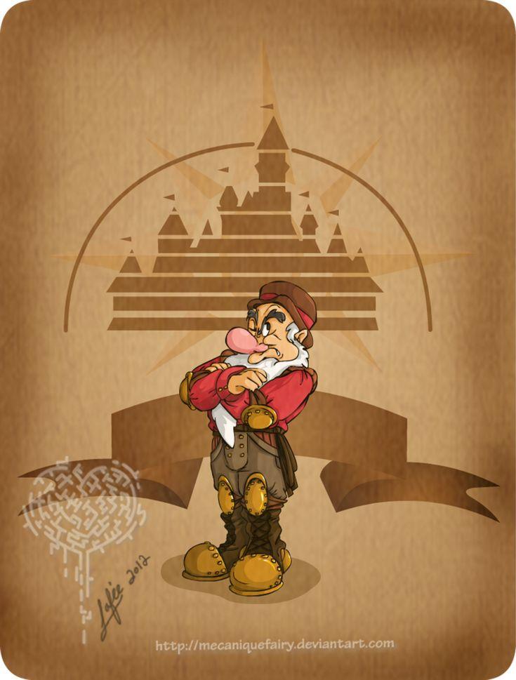 Disney steampunk: Grumpy by MecaniqueFairy.