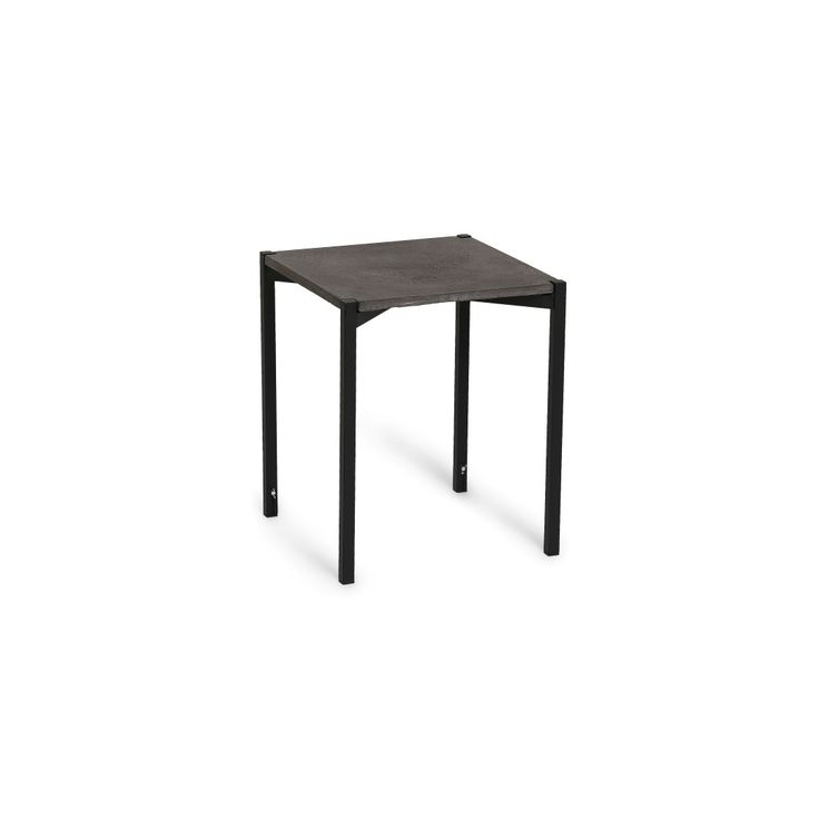 EH11 - Stool or Side Table. Classic concrete table top and black powder painted legs. #concretetable #concretestool #sidetable #table #stool #chair #powderpaint #danishdesign