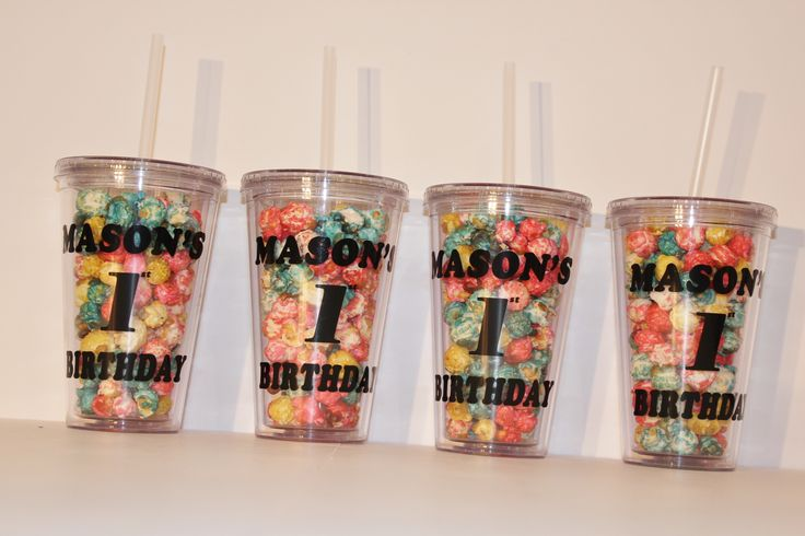 Custom Tumblers for a 1st Birthday - Practical and Unique and super cute!