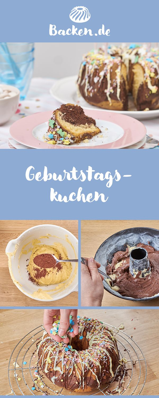 Geburtstags Rezept Lebensmittel Essen Kuchen Backen