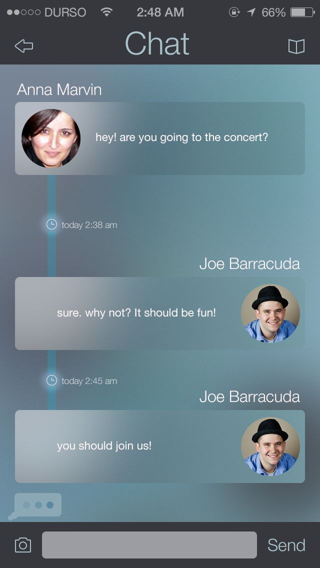 Chat - by Rovane Durso | #ui #ios