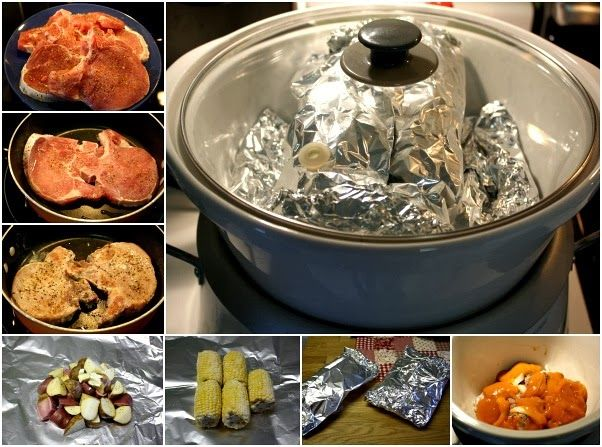 Mommy's Kitchen - Home Cooking & Family Friendly Recipes: All - In One Pork Chop Dinner {Cooked in the Crock Pot}