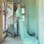 El nuevo color de los trajes de novia 2013: verde menta