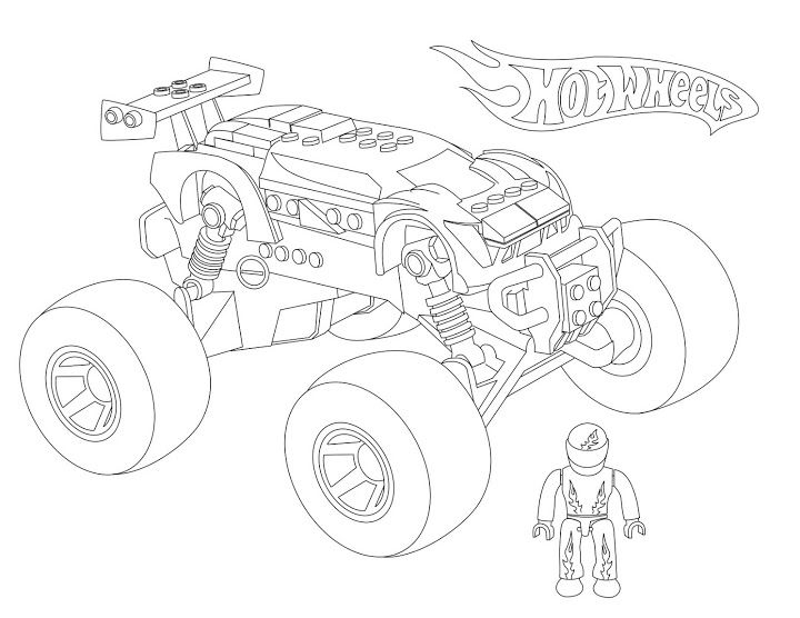 monster truck coloring pages - Space Jam Monstars Coloring Pages