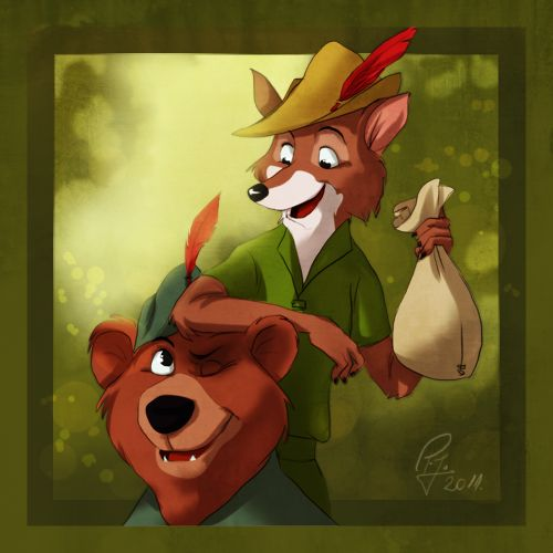 Robin Hood by Mikomi-sama in The Wonderful World of Disney Animation: The Little Mermaid, Alladin and Robin Hood