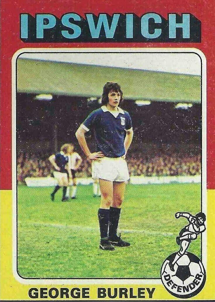 George Burley of Ipswich Town in 1974.