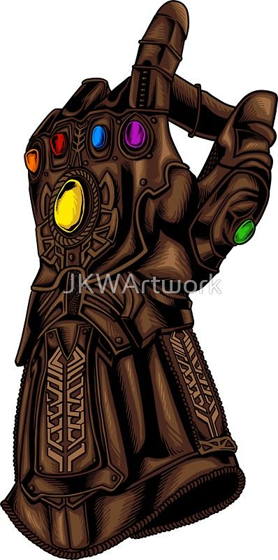 Infinity Gauntlet Snap! (Infinity War Reference) | Sticker ...