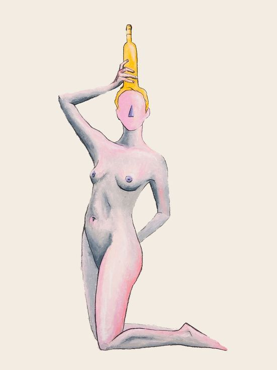 Buy Wine Girl VIII, Pastel drawing by Marxal Art on Artfinder. Discover thousands of other original paintings, prints, sculptures and photography from independent artists.
