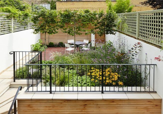 row house garden-design-rectangular-garden-idea #garden # ...