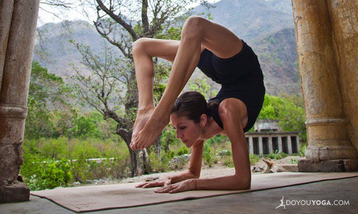 Scorpion pose is an advanced arm-balancing asana that takes a lot of practice to achieve. Here are yoga poses that'll help you prep for it.                                                                                                                                                                                 More
