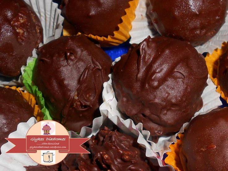 Τρούφες ινδοκάρυδου με πορτοκάλι και μαύρη σοκολάτα – Γλυκές Διαδρομές