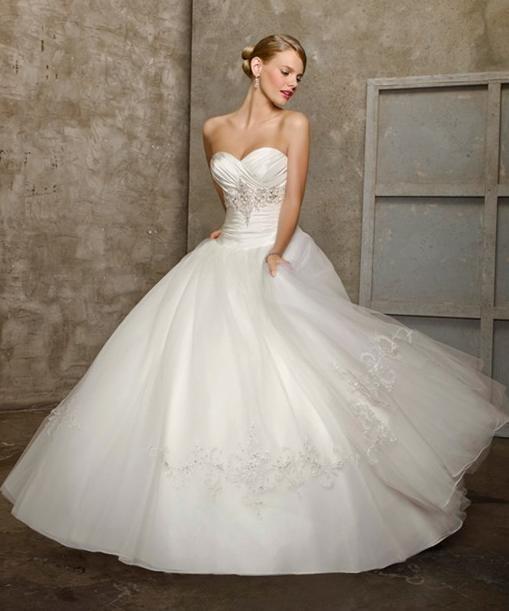 Fancy Elegant One Shoulder Wedding Dress Elegant Ball GownsBall