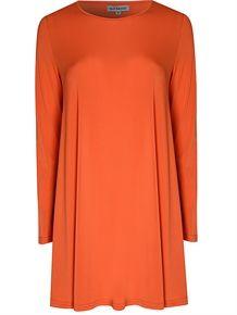 Orange Jersey Swing Dress