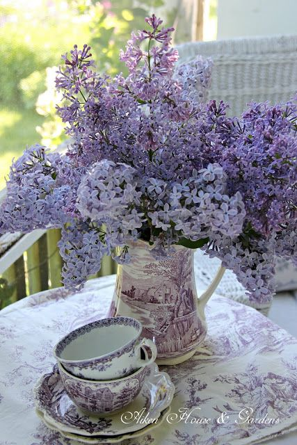Aiken House & Gardens: Tea Time ~ A Year in Review #purple #flowers