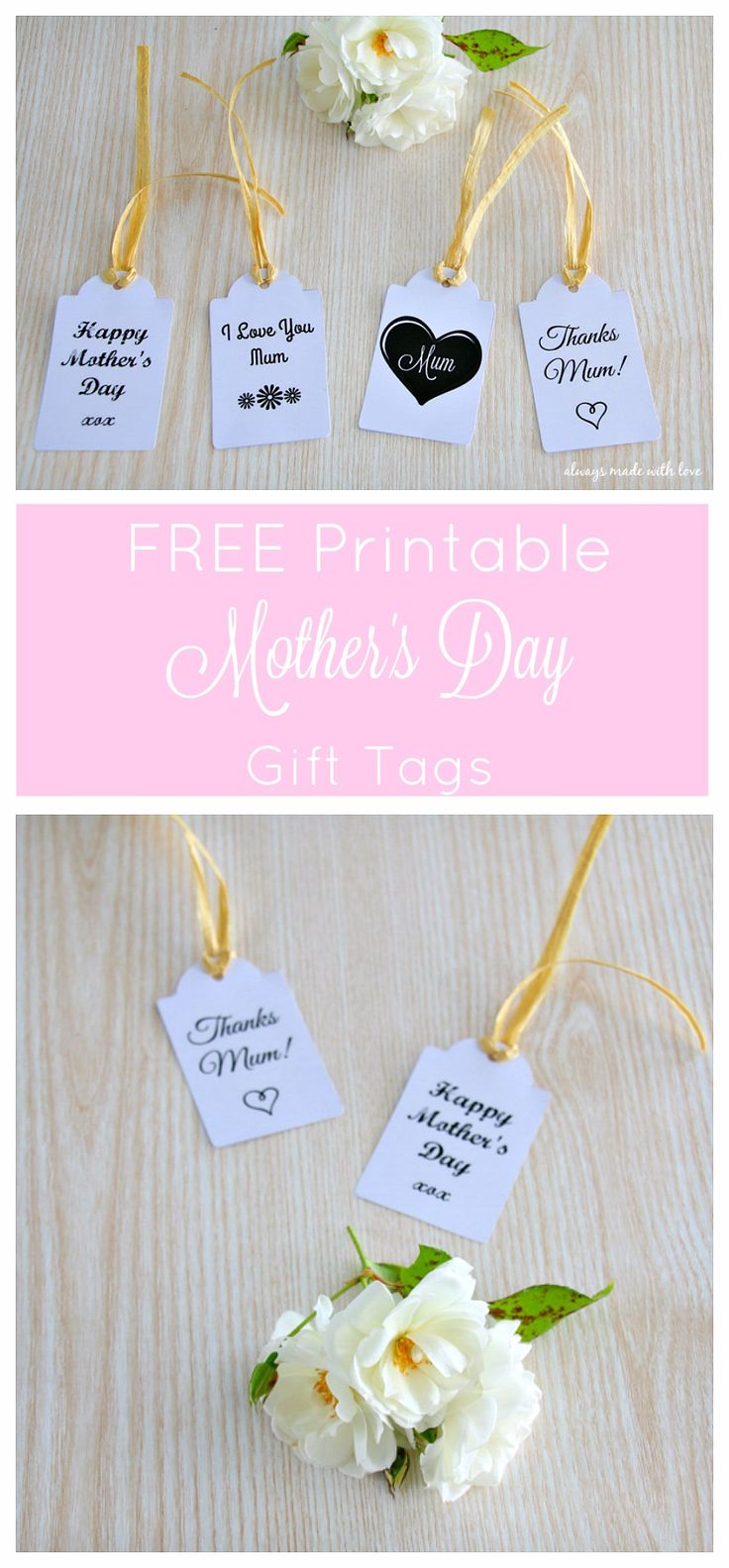 Mother's Day Gift Tags - FREE Printable - a simple yet pretty finishing touch to your gifts