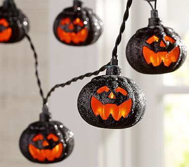 Pumpkin String Lights #halloween