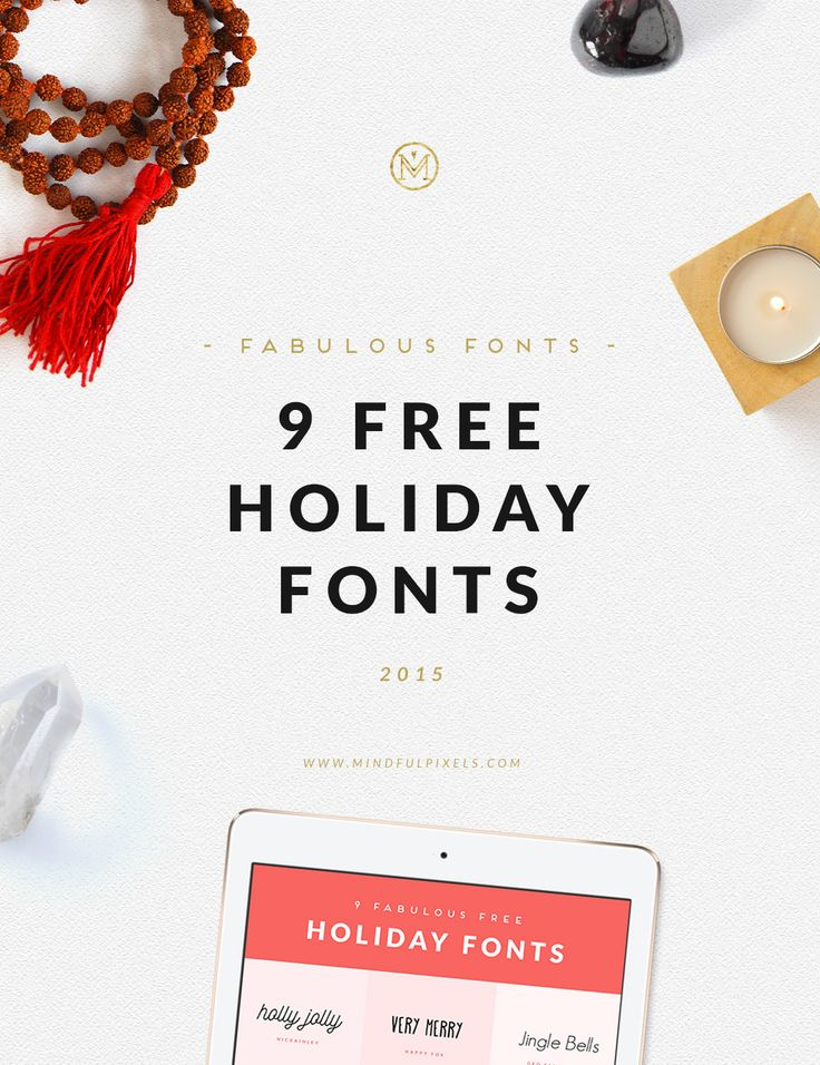 9 fabulous FREE Holiday Fonts - 2015 Edition