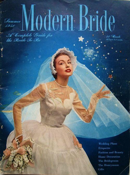 Magazines modern brides brides long summer 1950 brides magazines