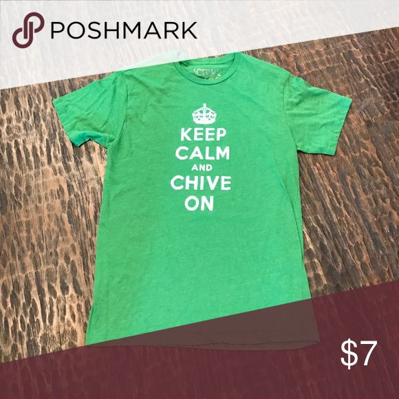 Chive on tee Keep calm and chive on super soft vintage feel tee chive Shirts Tees - Short Sleeve