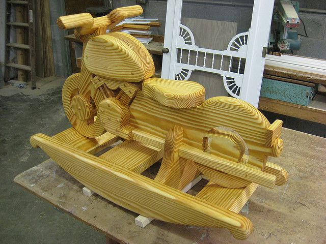 Wooden rocking horse patterns wooden rocking motorcycle by rossmvo