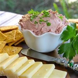 Pate With Liver Sausage, Cream Cheese, Minced Onion, Lemon Juice, Worcestershire Sauce, Salt, Pepper