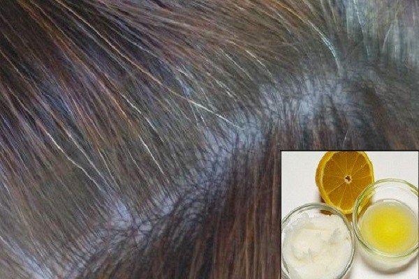 Kokosový olej a citrónová směs navrací šedivým vlasům zpět jejich přírodní barvu