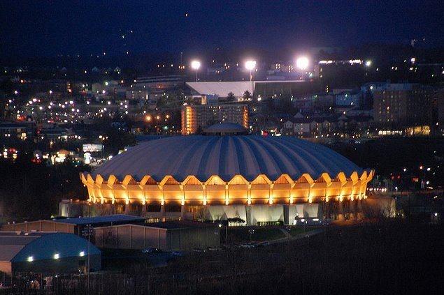 WVU Coliseum, Morgantown, WV home of the Mountaineers.
