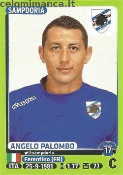 Calciatori 2014-2015: Fronte Figurina n. 431 Angelo Palombo