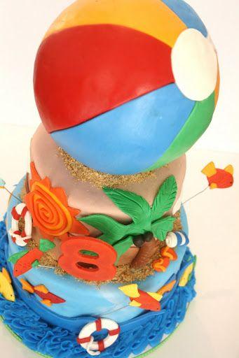pool party cake boy  | Pool Party/Beach Ball Bash