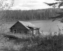 """Englishman Archie Bellamy's (also famously known as """"Grey Owl"""") cabin in northern Saskatchewan."""