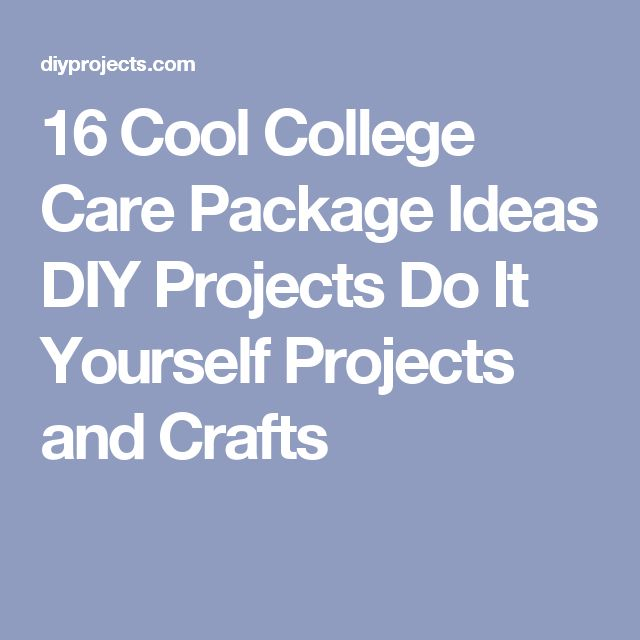 16 Cool College Care Package Ideas DIY Projects Do It Yourself Projects and Crafts