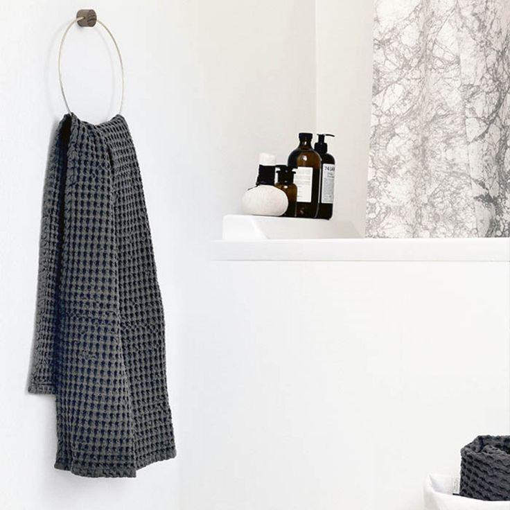 Designstuff offers a wide range of Scandinavian homewares including organic waffle hand towels by ferm Living.