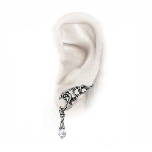 Wings Of Eternity vleugel stud oorbellen zilver - Gothic Swarovski