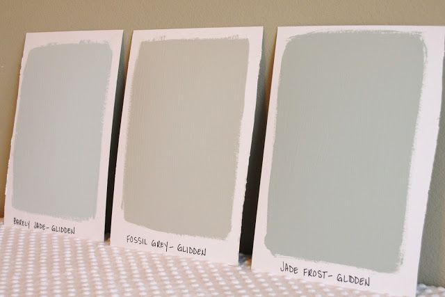 Barely Jade Fossil Grey And Jade Frost Glidden Paint