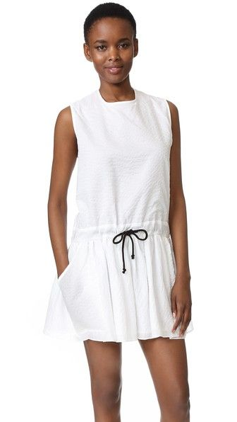 White MATIN Vecchio Drawstring Dress