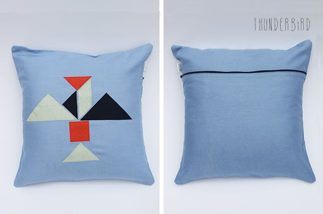 Thunderbird Linen Cushion by PINT SIZE GOODS (The Tangram Tribe Collection)