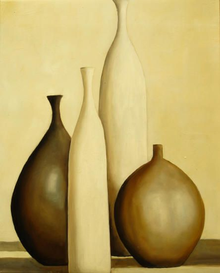 Cuadros Modernos Bodegones Ceramica Ocre