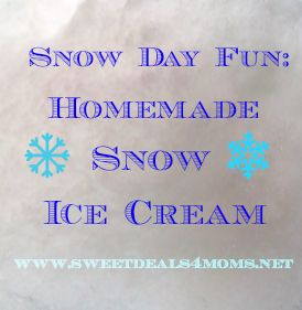 How to make snow ice cream. Fun Snow day activity with the kids.
