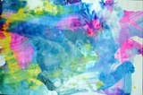 Wax paper paintings (squirt 3 colors, cover with wax paper, rub & smear)