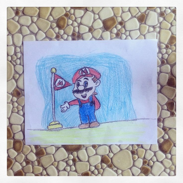 Mario-Crayola colors and paper (9yrs. old)