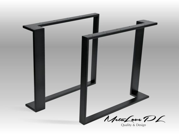 "28"" LOTOS 60.20 Iron Table Legs, Height 26"" - 32"" SET(2) Custom Sizes Available"